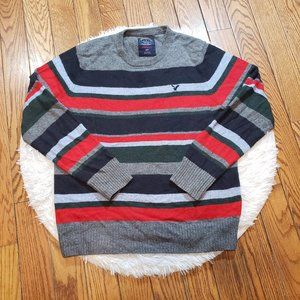 AEO Men's Striped Athletic Fit Sweater